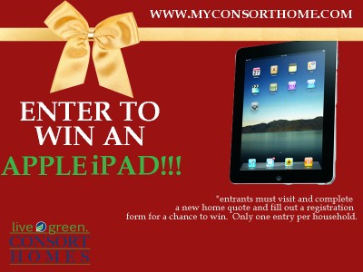 Enter to win a new Apple iPad from November 29th – December 22nd 2010!