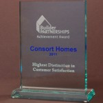 Consort Homes Receives Achievement Award for Highest Distinction in Customer Satisfaction
