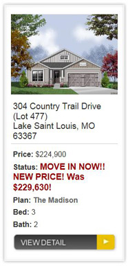 Countryshire Manors from Consort Homes in Lake St Louis
