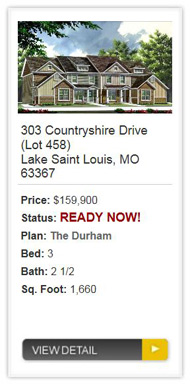 Countryshire Townes from Consort Homes in Lake St Louis
