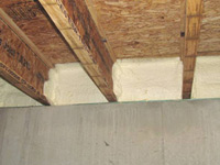 Spray Foam Sealed at Band in a New Consort Home