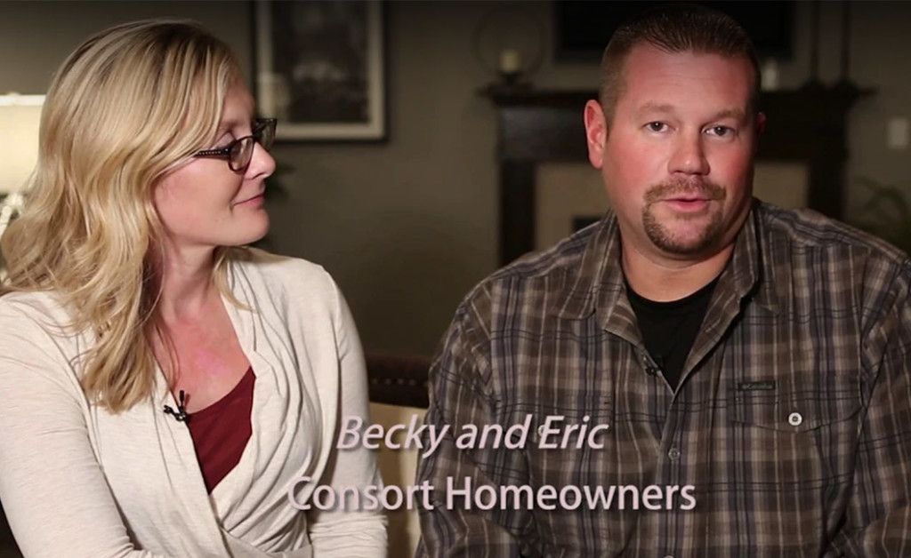 Becky and Eric, Consort Homeowners