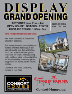 Fienup Farms Display Home OPEN SOON!